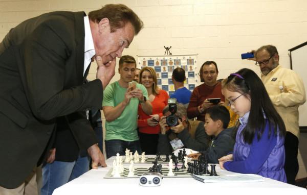 Arnold Schwarzenegger, noto appassionato di scacchi