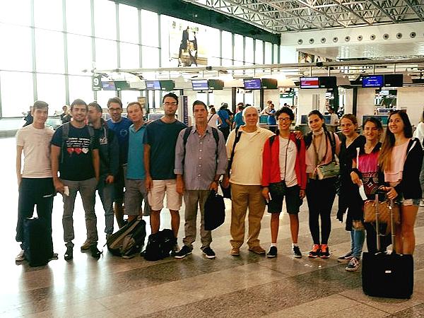 la comitiva azzurra al gran completo in partenza per Baku
