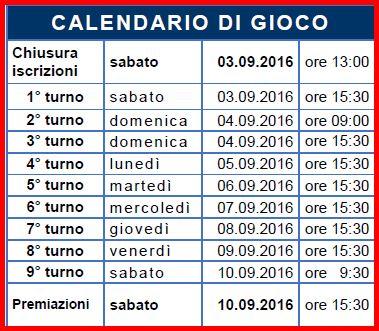 Trieste calendario