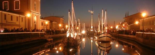 uno scorcio suggestivo del Porto Canale di Cesenatico