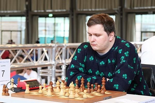 Andrey Sumets, Numero Uno del Tabellone. Foto GRENKE Chess Open