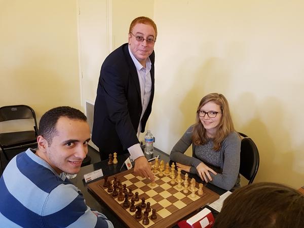il Numero Uno del Tabellone Amin Bassem ipegnato con la francese Anaelle Afraoui