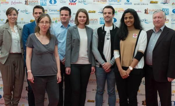 gli otto partecipanti al Trofeo Karpov