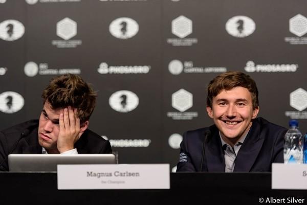l'espressione dei contendenti nel post partita della quinta dice tutto su chi è più soddisfatto dell'andamento del match