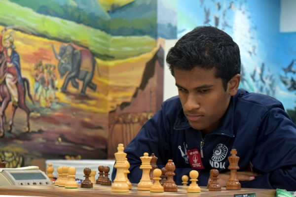 il Campione Nazionale indiano 2015 e 2016 Murali Karthikyan
