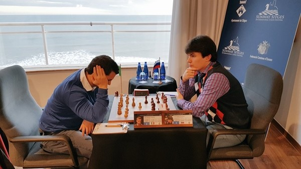 Vocaturo nella sua recente vittoria con Romanov Foto @SunwayChessOpen