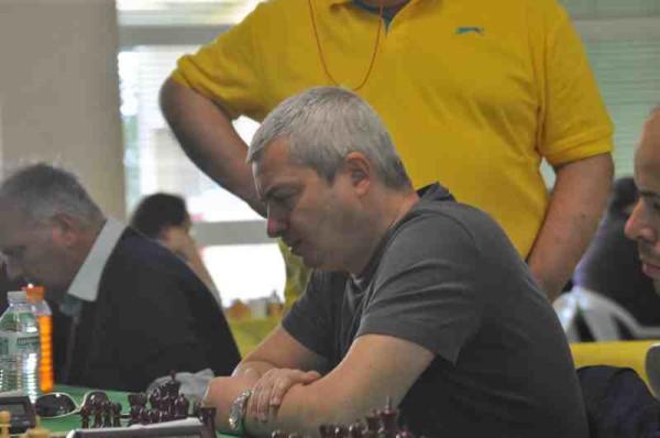 francesco Molina, Numero Uno del Tabellone di partenza dell'Open A. Foto cremonascacchi.it