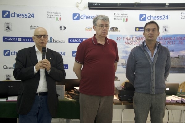 il Presidente FSI Pagnoncelli e l'organizzatore Matteo Zoldan