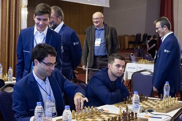 gli azzurri prima della sfida poi vittoriosa del secondo turno contro la Turchia Foto di Anastasiya Karlovych