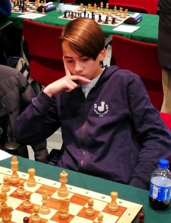 il Maestro Antonio Loiacono, vice Campione Italiano Under 16 . Foto Ciprescacchi