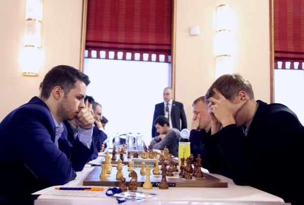 Vocaturo-Kryvoruchko, prima scacchiera di Italia-Ucraina
