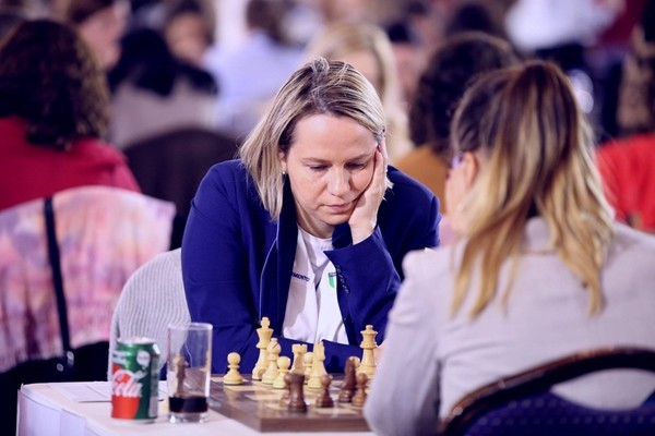 Olga Zimina, 6ª performance in 1ª scacchiera nel Femminile! Foto Anastasiya Karlovych