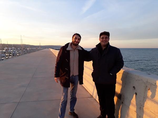 Jobava con l'organizzatore Dario Pedini