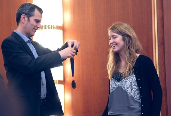 la greca Stavroula Tsolakidou entusiasta per il podio in seconda scacchiera