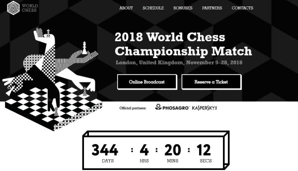Home Page del Sito Ufficiale del Mondiale 2018