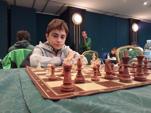 Kirk Kacani, classe 2005, impegnato nel torneo B