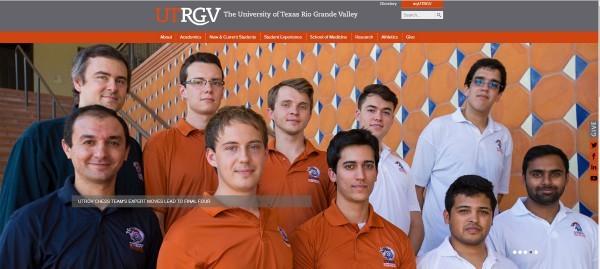 la qualificazione alla Final Four del Team di scacchi nella Home Page della University of Texas Rio Grande Valley