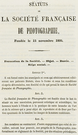 Bollettino della Società Francese della Fotografia, primo volume [pagina 5] Parigi, Società Francese di Fotografia, Francia – 1855)