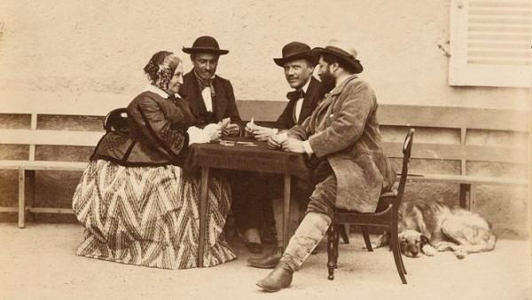 Giocatori di carte, 1860 (Olympe Aguado)
