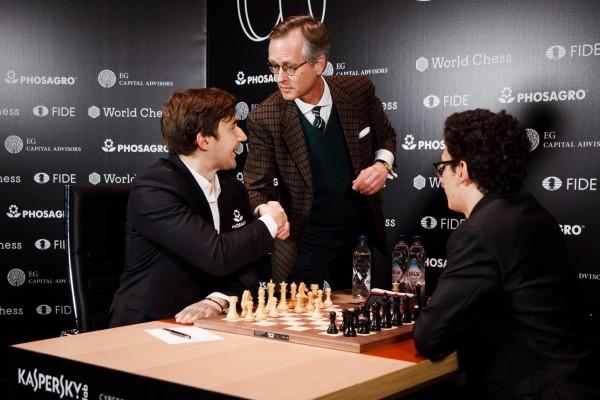 Karjakin batte Caruana e completa l'incredibile rimonta! Foto @theworldchess