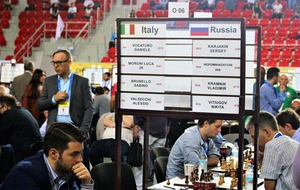 Vocaturo e il Tabellone di Italia-Russia che terminerà 1-3