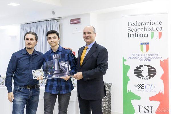 Il Campione Italiano Under 20 Edoardo Di Benedetto, che ha superato quota 2400