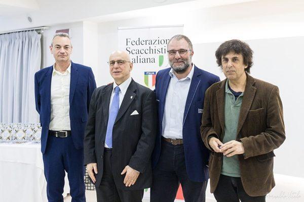 Il Presidente della FSI con Bellia, Godena e Garcia Palermo