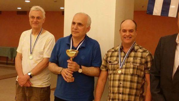 Zurab Sturua (al centro) Campione Europeo Senior Over 50 nel 2015 e nel 2016, unico over 2500 nella competizione