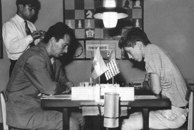 1958-Svetozar-Gligoric-vs-Bobby-Fischer-at-the-Portoroz-Interzonals