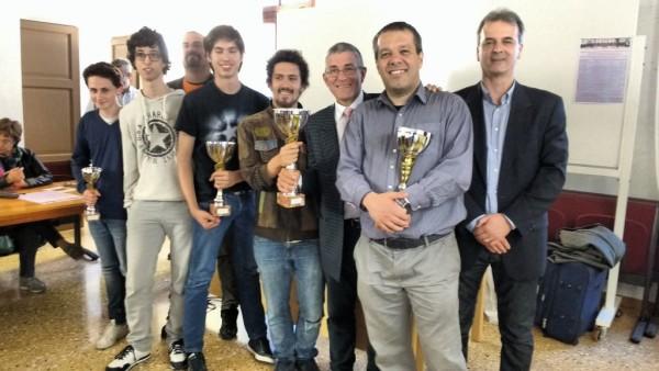 Foto di gruppo dei primi 5 classificati del Campionato Veneto - Foto FSI