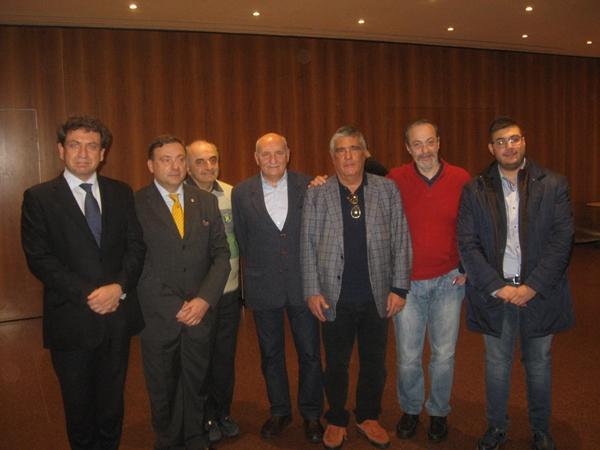 - i 7 eletti in quota società (da sin. Rivello, Antonelli, Pagano, Stucchi, Quaranta, Merendino, Martorelli)