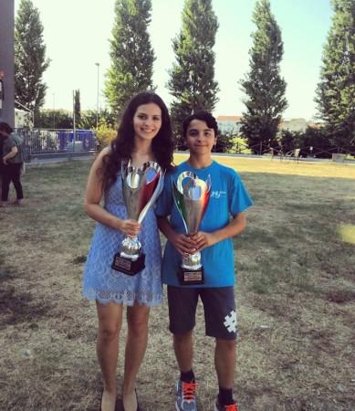 Desiree ed Edoardo Di Benedetto, recentemente vincitori delle Semifinali Femminile e Under 20