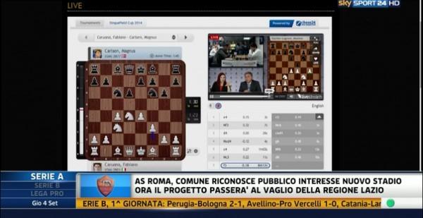 la partita è stata trasmessa anche sul canale SkySport24!