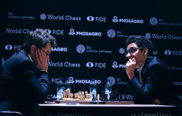 Aronian-Caruana. Foto FIDE