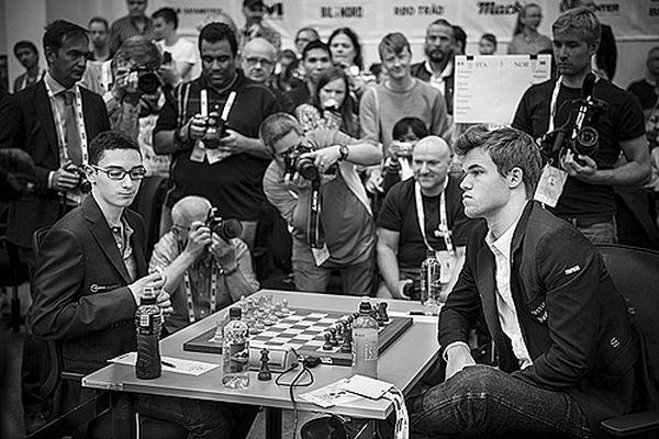 Caruana-Carlsen 2014 Oly by David Llada